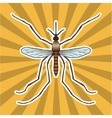 Insect anatomy Sticker realistic mosquito Culex vector image vector image