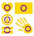 Intersex pride design elements vector image vector image