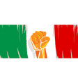 italy flag independence painted brush stroke vector image