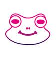 line cute frog head wild animal vector image
