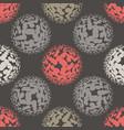 living coral halftone circles seamless pattern vector image vector image