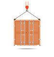 logistic icon crane hook container isolated on vector image