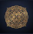 luxury ornamental mandala design in gold color vector image vector image