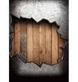 metal and wood background vector image vector image