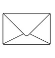 monochrome silhouette of sealed envelope vector image vector image
