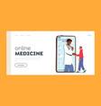 online medicine landing page template smart vector image