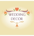 Organization of weddings decor floral interior vector image