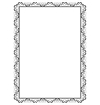 ornamental frame with hearts vector image vector image