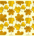 pattern with chestnut and tulip poplar leaves vector image