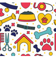 pet seamless patterns backgrounds for pet shop vector image vector image