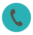 Phone flat grey and cyan colors round button vector image