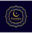 ramadan kareem islamic golden background vector image