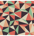 retro triangle pattern seamless vector image vector image