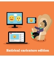 Satirical Caricature Edition Design Flat vector image vector image