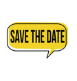 save the date speech bubble vector image