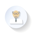 Scientist flat icon vector image vector image