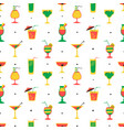 seamless pattern with alcohol cocktails flat vector image vector image