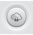 Secured Cloud Processing Icon vector image