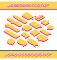 speech isometric style bubbles various shapes vector image
