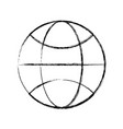 sphere global symbol vector image vector image