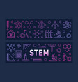 stem concept two colorful banners in vector image vector image