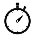 stopwatch icon black color icon vector image