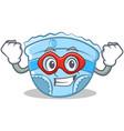 super hero baby diaper character cartoon vector image vector image