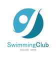 swimming club logo vector image