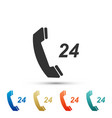 telephone 24 hours support icon isolated vector image vector image