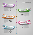 Time line info graphic with colored folded vector image vector image