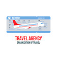 travel agency tour operator banner flyer layout vector image vector image
