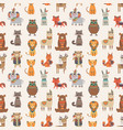 tribal animal seamless pattern ethnic style vector image