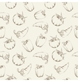 Vegetable pattern - beige vector image