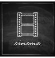 vintage with film strip sign on blackboard vector image vector image