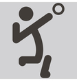 volleiball icon vector image vector image
