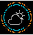 weather forecast icon seasons clouds vector image