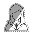 Young woman profile vector image vector image