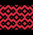 zigzag seamless pattern with black and red color vector image vector image