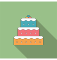 Flat Cake Icon vector image