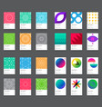 79 business cards set vector image vector image
