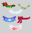 a set decorations in form christmas vector image vector image