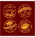 American Football Emblem vector image