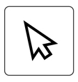 Arrow pointer sign vector image vector image