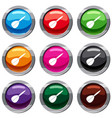 arrow to play dart set 9 collection vector image vector image