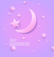 beautiful background with moon and stars in vector image
