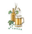 beer poster template vector image vector image