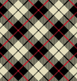 black and beige fabric texture diagonal little vector image vector image