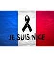 black mourning ribbon on a flag of France vector image vector image