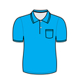 Blue polo shirt outline vector image