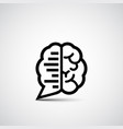 brain chat vector image